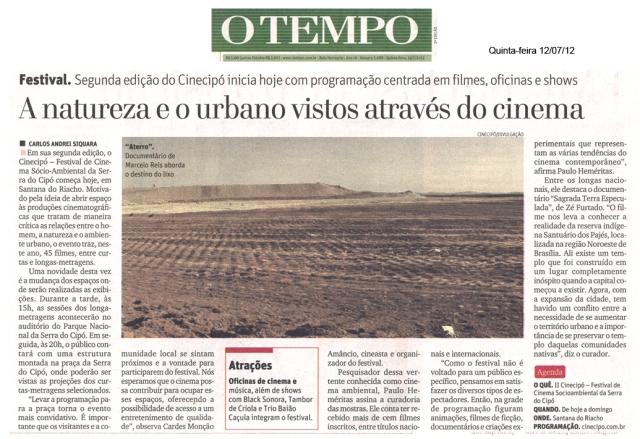 Cinecipo 2012 jornal o tempo email