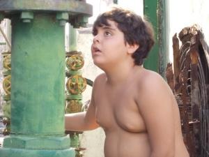 O garoto Gabriel Cunha estreando no curta-metragem